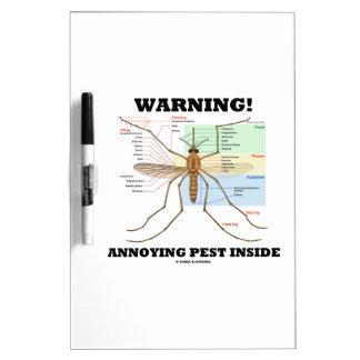 ¡Advertencia! Interior molesto del parásito (anato Pizarra