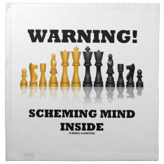¡Advertencia! Interior proyector de la mente (jueg Servilletas De Papel