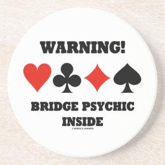 ¡Advertencia! Interior psíquico del puente (cuatro Posavasos Personalizados