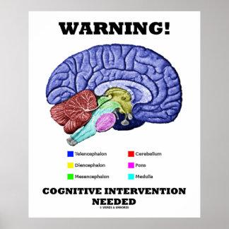 ¡Advertencia! Intervención cognoscitiva necesaria