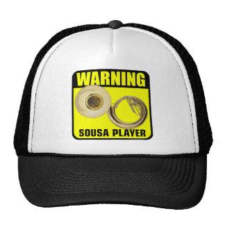 ¡Advertencia! Jugador de Sousa Gorro De Camionero