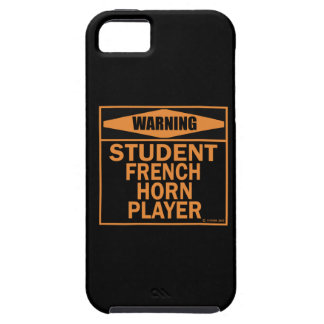 ¡Advertencia! ¡Jugador de trompa del estudiante! iPhone 5 Case-Mate Carcasas