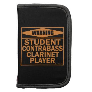 ¡Advertencia! ¡Jugador del Clarinet del Contrabass Organizador