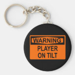 Advertencia: Jugador en la inclinación Llaveros