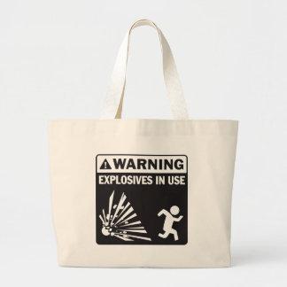 ¡Advertencia! La bolsa de asas funcionando de los