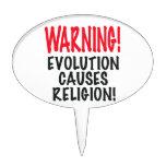 ¡ADVERTENCIA! La EVOLUCIÓN CAUSA LA RELIGIÓN, rojo Figura De Tarta