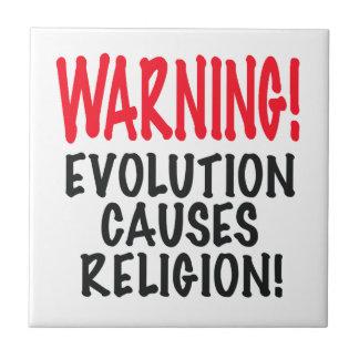 ¡ADVERTENCIA! La EVOLUCIÓN CAUSA LA RELIGIÓN, rojo Tejas