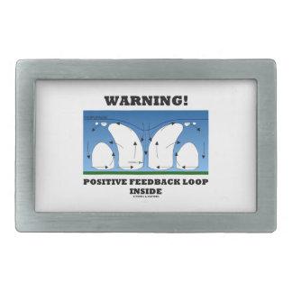 ¡Advertencia! Lazo de retroalimentación positiva Hebilla De Cinturón Rectangular