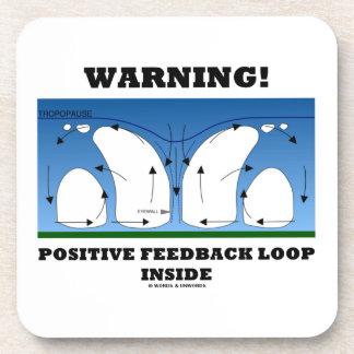 ¡Advertencia! Lazo de retroalimentación positiva Posavasos