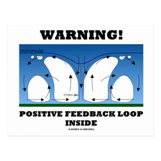¡Advertencia! Lazo de retroalimentación positiva Postal