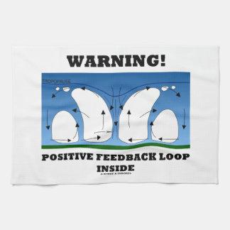 ¡Advertencia! Lazo de retroalimentación positiva Toallas De Mano