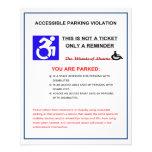 Advertencia lisiada del espacio de estacionamiento tarjetas informativas