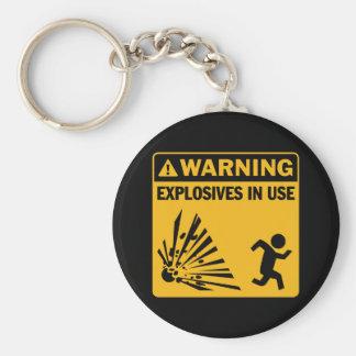 ¡Advertencia! Llavero funcionando de los explosivo