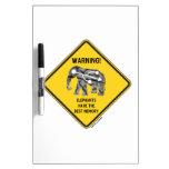 ¡Advertencia! Los elefantes tienen la mejor memori Pizarras Blancas