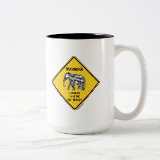 ¡Advertencia! Los elefantes tienen la mejor memori Taza De Café