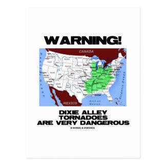 ¡Advertencia! Los tornados del callejón de Dixie s Tarjetas Postales