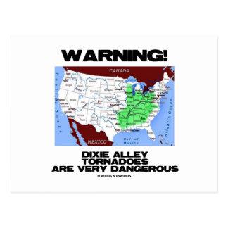 ¡Advertencia! Los tornados del callejón de Dixie s Postales