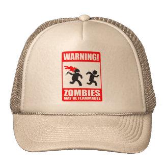 ¡Advertencia! Los zombis pueden ser gorra inflamab