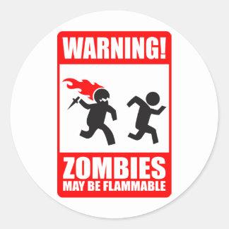 ¡Advertencia! Los zombis pueden ser pegatina