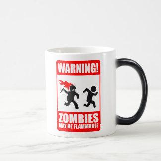 ¡Advertencia! Los zombis pueden ser taza inflamabl