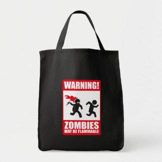 Advertencia: Los zombis son inflamables Bolsa De Mano