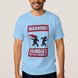 advertencia: los zombis son inflamables polera
