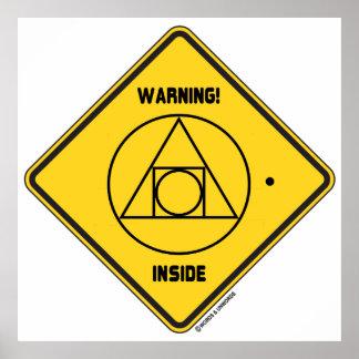¡Advertencia Lugar geométrico externo de la ident Posters