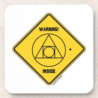 ¡Advertencia! Lugar geométrico externo de la ident Posavasos De Bebidas