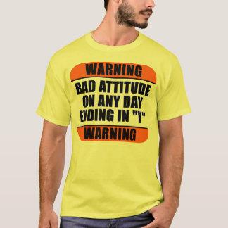 Advertencia - mala actitud playera