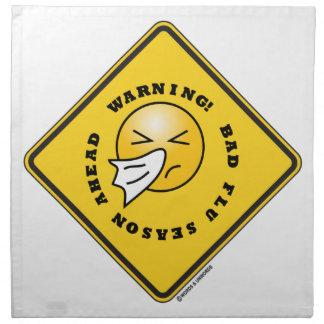 ¡Advertencia! Mala muestra del diamante del amaril Servilletas De Papel