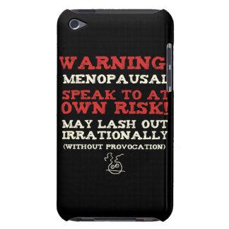 ¡Advertencia! Menopáusico Case-Mate iPod Touch Carcasas