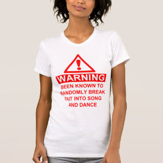 Advertencia musical de la fan camisas