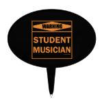 ¡Advertencia! ¡Músico del estudiante! Figura Para Tarta
