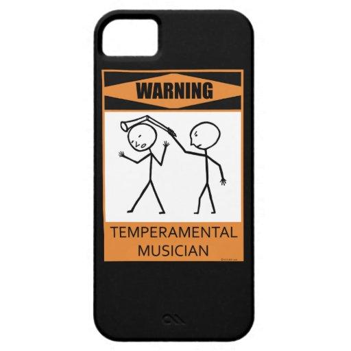 ¡Advertencia! Músico temperamental iPhone 5 Fundas