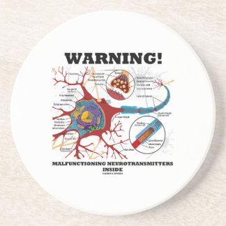 ¡Advertencia! Neurotransmisores que funcionan Posavasos De Arenisca