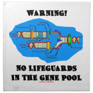 ¡Advertencia! Ningunos salvavidas en la reserva ge Servilletas