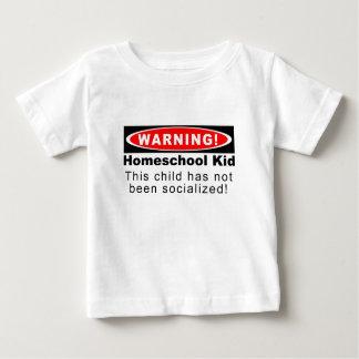 ¡Advertencia!  Niño de Homeschool Playera