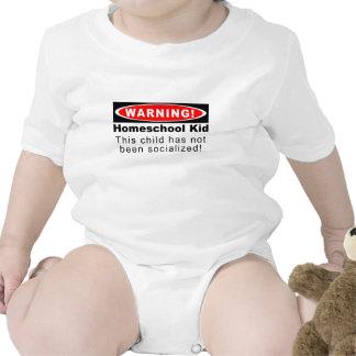 ¡Advertencia Niño de Homeschool Traje De Bebé