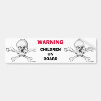 ADVERTENCIA: Niños a bordo Etiqueta De Parachoque