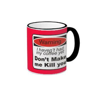 Advertencia - no haga que le mata taza a dos colores