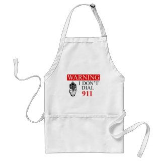 Advertencia: No hago marco 911 Delantal
