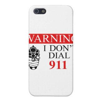 Advertencia: No hago marco 911 iPhone 5 Fundas
