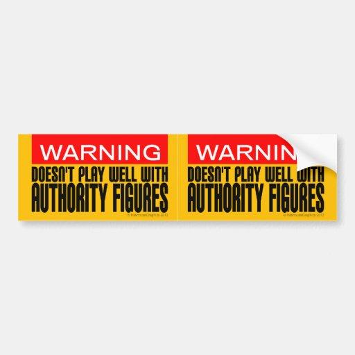 Advertencia: No juega bien con las figuras de auto Pegatina Para Auto