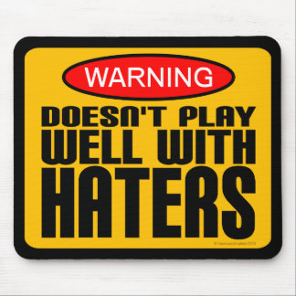 Advertencia: No juega bien con los enemigos Alfombrillas De Ratones