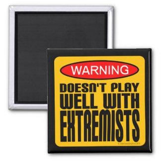 Advertencia: No juega bien con los extremistas Imán Cuadrado