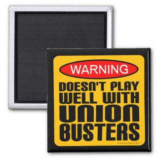 Advertencia: No juega bien con los Unión-Tipos Imán Cuadrado