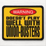 Advertencia: No juega bien con los Unión-Tipos Tapetes De Raton