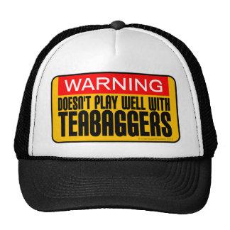 Advertencia: No juega bien con Teabaggers Gorros Bordados