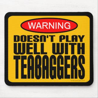 Advertencia: No juega bien con Teabaggers Tapete De Ratón