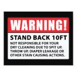 Advertencia: No responsable de la limpieza en seco Comunicado Personal